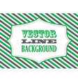 striped background green vector image