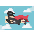 super business woman business concept cartoon vector image vector image