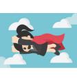 super business woman business concept cartoon vector image
