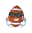super cool american football character cartoon vector image vector image
