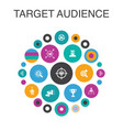 target audience infographic circle concept smart