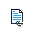technology document logo icon design vector image vector image