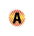 technology letter a vector image vector image