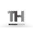 th t h lines letter design with creative elegant vector image