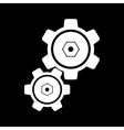 The settings icon Gears symbol vector image