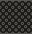 tile pattern with black and white dots background vector image vector image