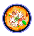 Tom Yum Goong or Thai Sour Soup with Prawns vector image vector image