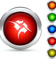 Traffic button vector image