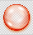 transparent orange sphere with shadow vector image