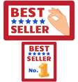 two bestseller signs vector image vector image