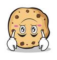 upside down sweet cookies character cartoon vector image vector image