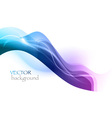 wave neon light white curve blue vector image
