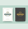 wedding invitations save the date cards design vector image vector image