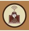 wifi service design vector image vector image