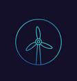 wind turbine icon windmill linear vector image