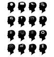 Idea mind icons set vector image