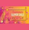 summer super sale card vector image