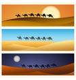 Caravan of camels in desert vector image