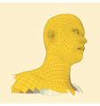 Head of the Person from a 3d Grid Geometric Face vector image