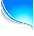 Abstract blue brochure vector image