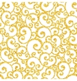 Abstract gold dust glitter swirl seamless vector image vector image