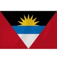 Antigua and Barbuda waving flag vector image vector image