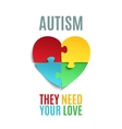Autism awareness poster or brochure template vector image vector image
