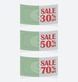 Banknote tag sale vector image vector image