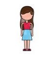 beautiful icon girl vector image vector image