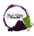 best wine grapes label vector image vector image