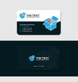 business card with blue cargo container vector image vector image