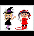 cartoon characters of little cute baby girls in vector image