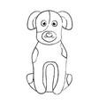 cartoon dog sitting pet animal vector image vector image