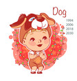 chinese year symbol dog vector image vector image