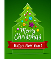Christmas tree applique vector image