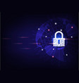 closed padlock protect world global network vector image vector image