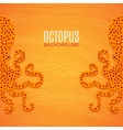 Colorful background with octopuses vector image