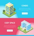 condominium real estate in town flyers vector image vector image