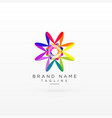 creative abstract vibrant logo design vector image vector image