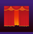 curtains - realistic red drapes vector image vector image
