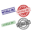 damaged textured naturals only seal stamps vector image vector image