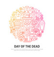day of the dead circle concept vector image vector image