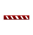 do not cross the line caution barrier isolated on vector image