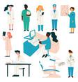 doctors and nurses medical staff set hospital vector image vector image