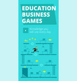 education business games training game and vector image vector image