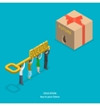 Education flat isometric concept vector image vector image