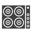 electric hot plate glyph icon electrical stove vector image vector image