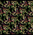 floral embroidery seamless pattern in vector image vector image