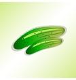 Food vegetarian icon Cucumber symbol Color vector image vector image