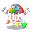 geek cartoon hanging toys with baby carousel vector image